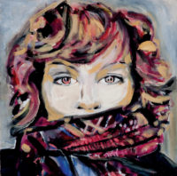 Painting of Dani Couture by Melanie Janisse-Barlow