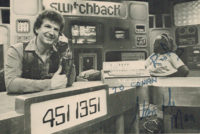 """Photograph of the Switchback host Stan """"the Man"""" Johnson, circa 1983."""